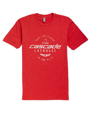 Cascade 1986 Men's T-Shirt - Red - Legit Lacrosse, Inc.