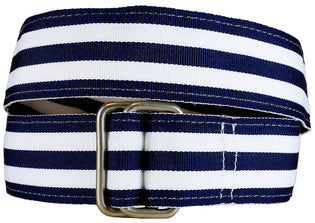 Belted Cow Georgetown Belts - Navy/White