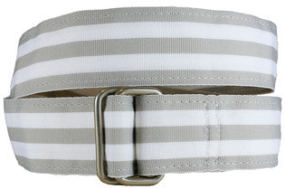 Belted Cow Georgetown Belts - Grey/White