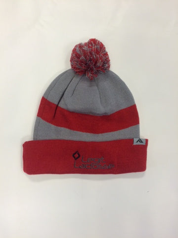 Legit Lacrosse Loose-Fit Pom-Pom Knit Winter Hat
