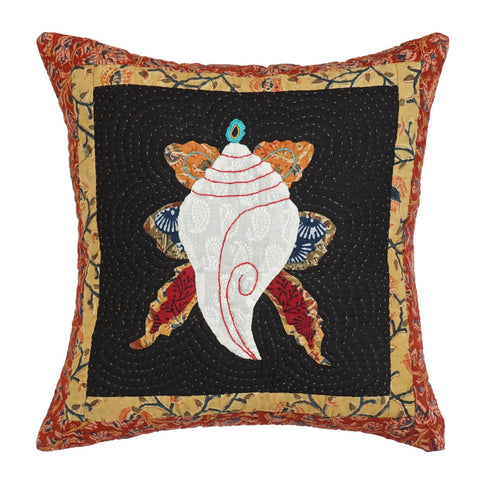 Cushion Cover Madhubani Ganesha Motif 16 x 16 Cotton