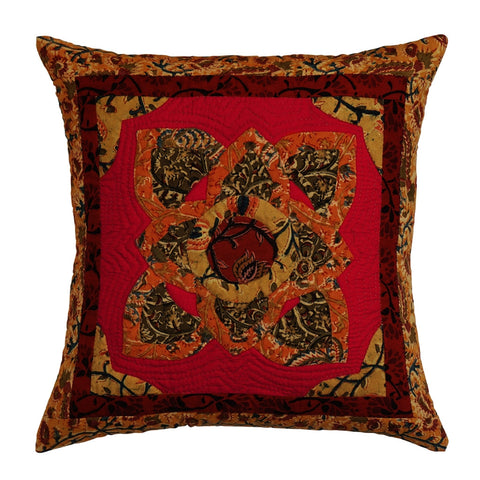 Cushion Cover Madhubani Motif 16 x 16 Cotton