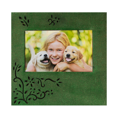 Photo Frame 4x6 Wooden Handcrafted Green