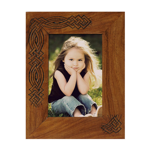 Photo Frame 6x4 Wooden Handcrafted Brown