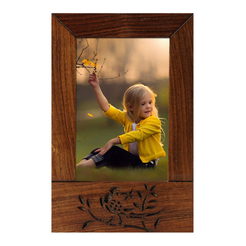 Photo Frame 6x4 Wooden Brown Handcrafted