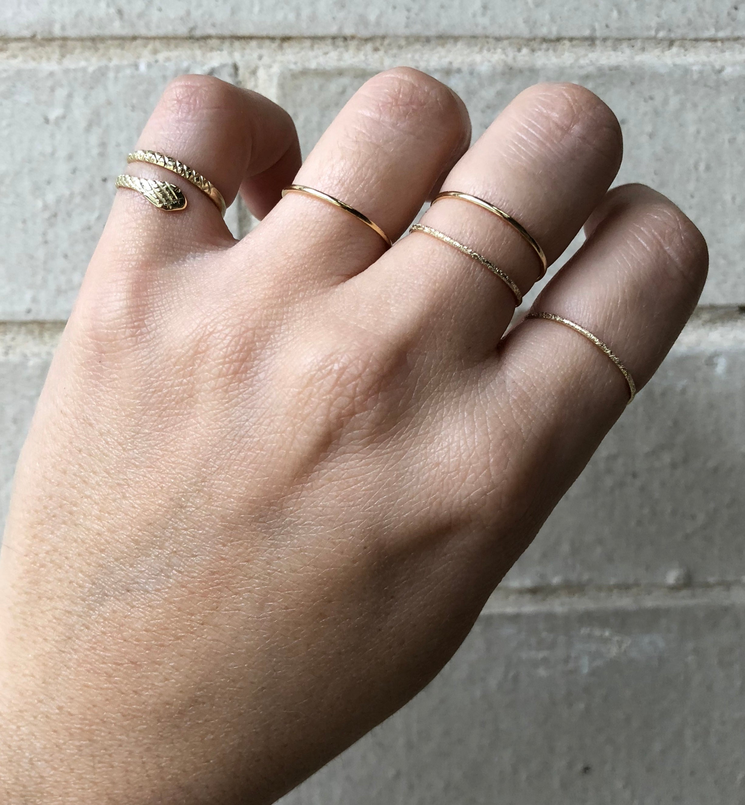 thin stacking il midi filled ringgold tbph listing rings one ring for fullxfull minimalist gold gift her