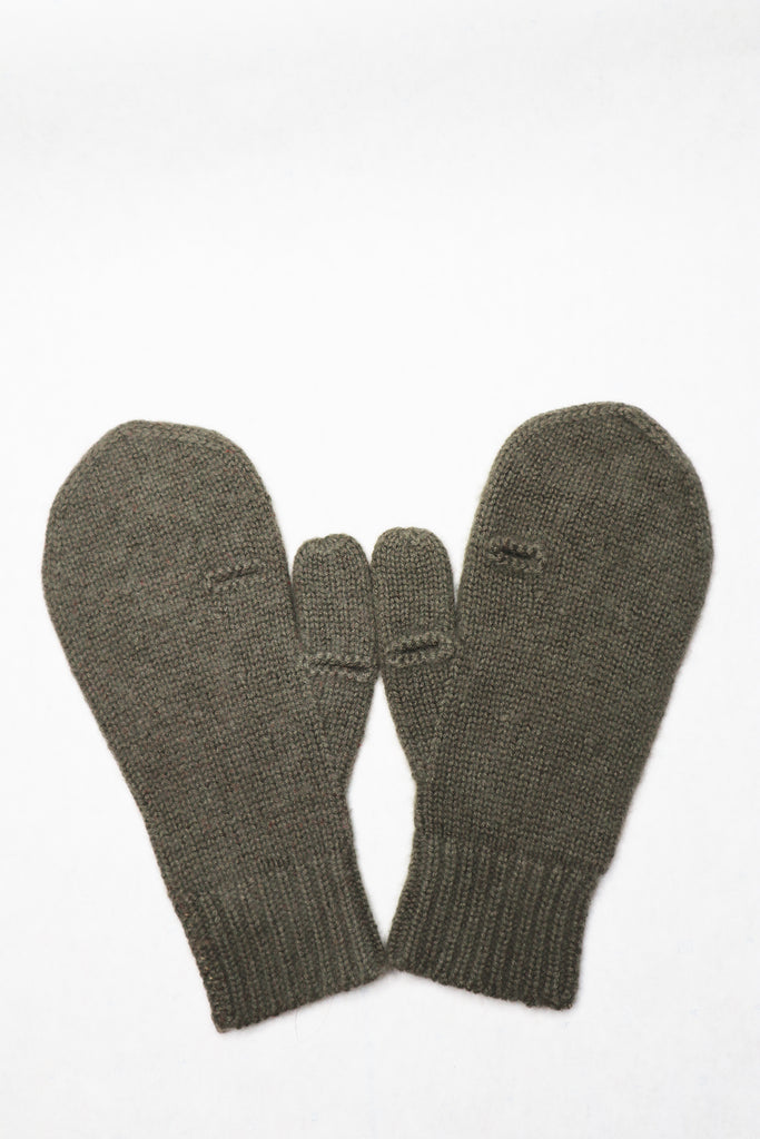 Cashmere Gloves. Army