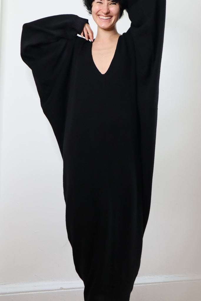 Cashmere oversize batwing dress