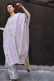 Caftan in purple & black stripe - SOLD OUT
