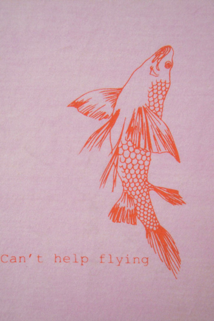 Maude's fish Tee - Pink / red