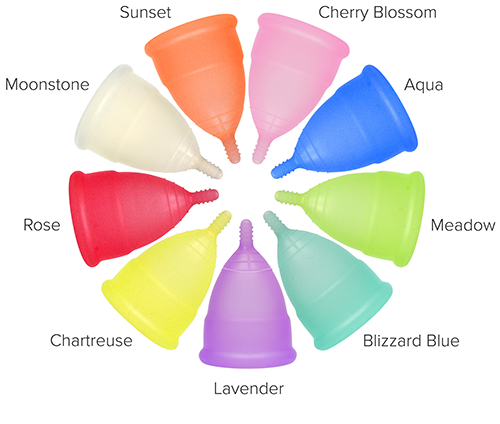 Anigan EvaCup menstrual cup comes with 9 choices of color