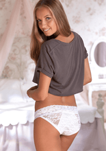 Load image into Gallery viewer, Anigan StainFree Lace Bikini Menstrual Underwear Period Panty - White - Anigan   - 3