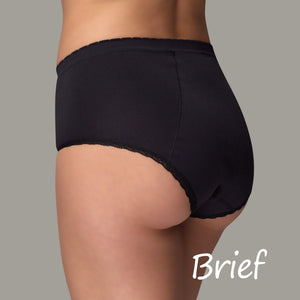 EvaWear - Menstrual Period Panty - Brief - Black