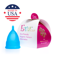 Load image into Gallery viewer, Eva Menstrual Cup Aqua Blue