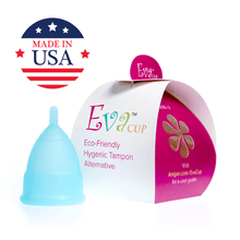 Load image into Gallery viewer, Eva Menstrual Cup Blizzard Blue