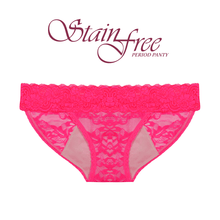 Load image into Gallery viewer, Anigan StainFree Lace Bikini Menstrual Underwear Period Panty - Rose Pink - Anigan   - 4