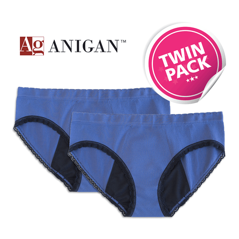 Anigan StainFree Period Panty - Lace-trim Seamless Hipster - Anigan   - 7