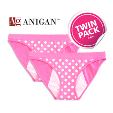 Load image into Gallery viewer, Anigan StainFree Period Panty - Polka Dots Seamless Bikini - Anigan   - 6