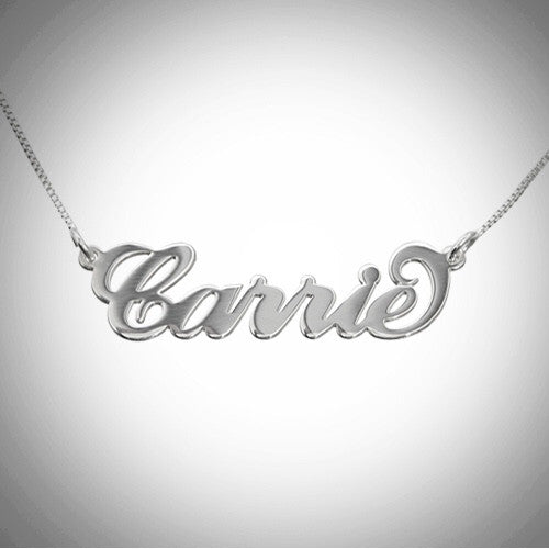 Customizable Name Plate Necklces-silver w/gold plated