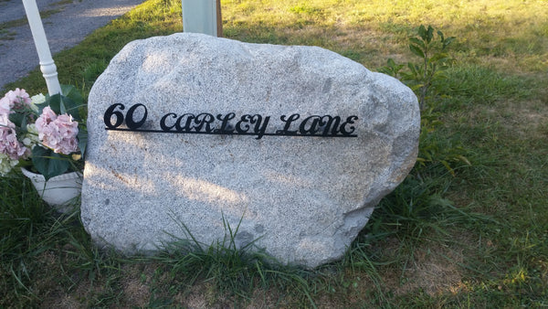 Custom Address Sign in Rock