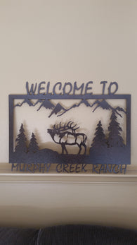 Custom Welcome to the Ranch Sign