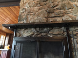 Fireplace Screen Insert with Mantle