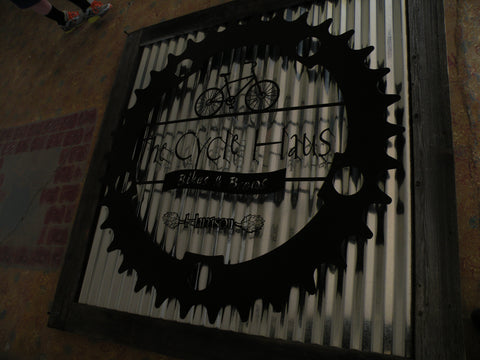 Corrugated Metal Custom Sign
