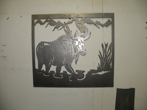 Moose in the Marsh Wall Art
