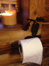 Pinecone Toilet Paper Bar / Holder