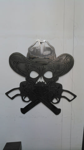 Skull and Guns Sign