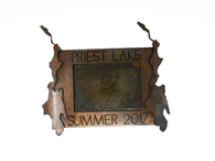 Priest Lake Metal Picture Frame
