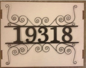 Address Cutout Fine Scroll