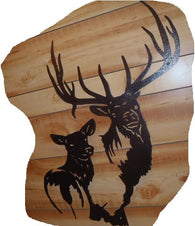 Elk Cutout Sign