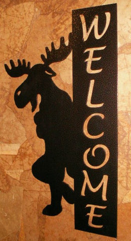 Leaning Moose Welcome