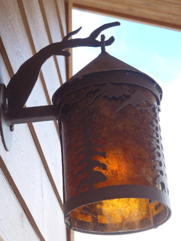 Outdoor Round Sconce Light