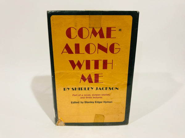 Come Along With Me by Shirley Jackson 1968 Hardcover Anthology