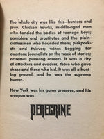 Peregrine by William Bayer 1983 Paperback