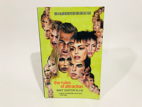 The Rules of Attraction by Bret Easton Ellis 1998 Movie Tie-In Edition Softcover