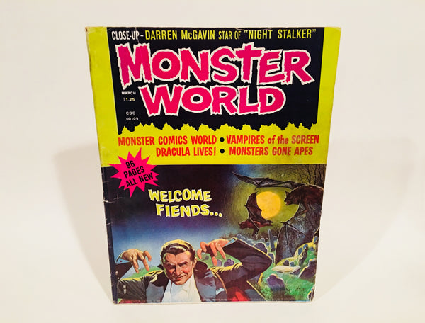 Monster World Magazine March 1975 Vol. 1 #1 Dracula Night Stalker