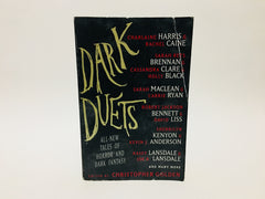 Dark Duets Edited by Christopher Golden 2014 First Edition Softcover Anthology