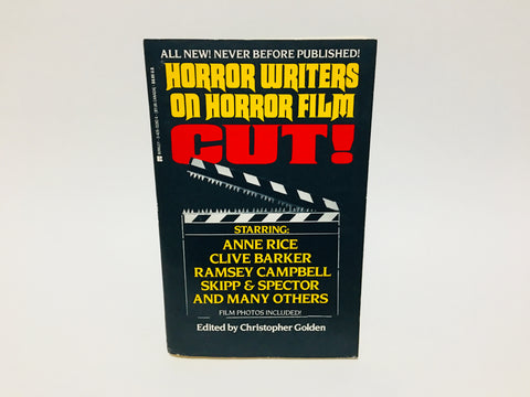 Cut! Horror Writers on Horror Film Edited by Christopher Golden 1992 Softcover