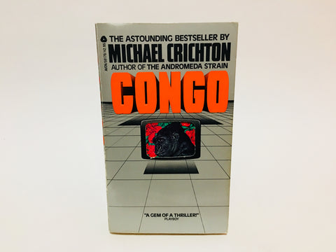 Congo by Michael Crichton 1981 First Edition Paperback