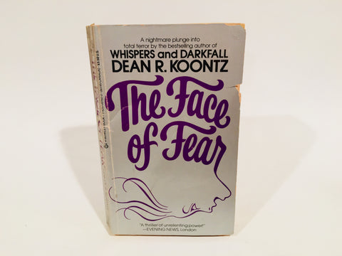 The Face of Fear by Dean Koontz 1985 Edition Paperback