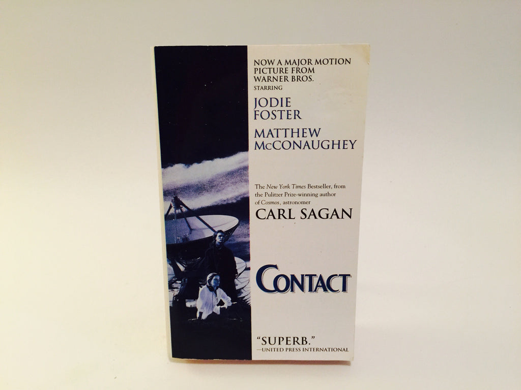 Contact by Carl Sagan Movie Tie-In Edition 2000s Paperback - LaCreeperie