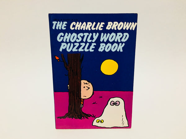 The Charlie Brown Ghostly Word Puzzle Book 1979 Softcover