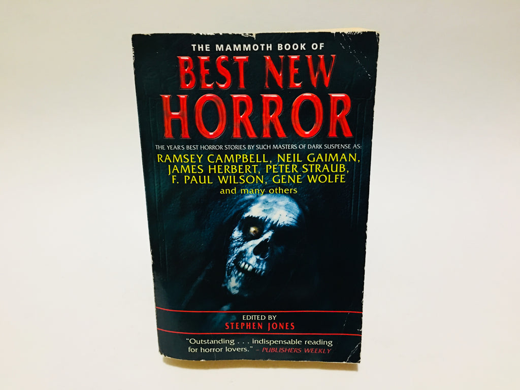The Mammoth Book of Best New Horror 2000 Softcover Anthology