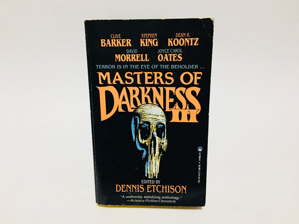 Masters of Darkness III 1991 Paperback Anthology