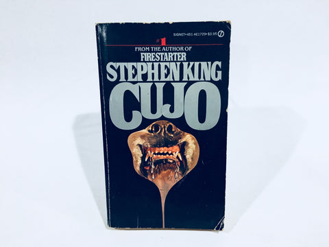 Cujo by Stephen King 1982 First Edition Paperback