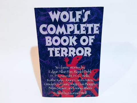 Wolf's Complete Book of Terror 1994 Softcover Anthology