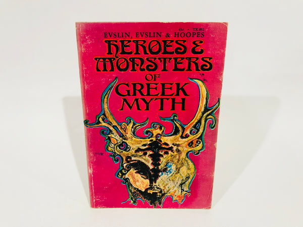 Heroes and Monsters of Greek Myth by Evslin, Evslin & Hoopes 1967 Paperback